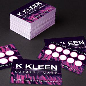 K Kleen Loyalty Cards